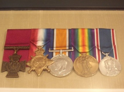 William's medals - his Victoria Cross is on the far left