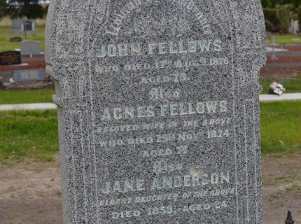 FELLOWS John, Agnes